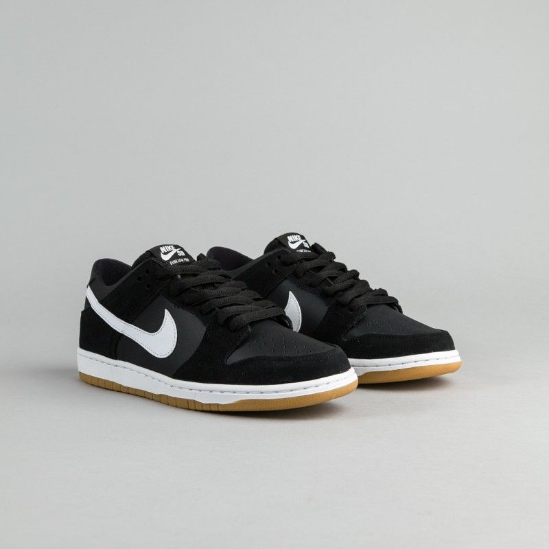 Nike SB Dunk Low Pro Black White Gum Light Brown