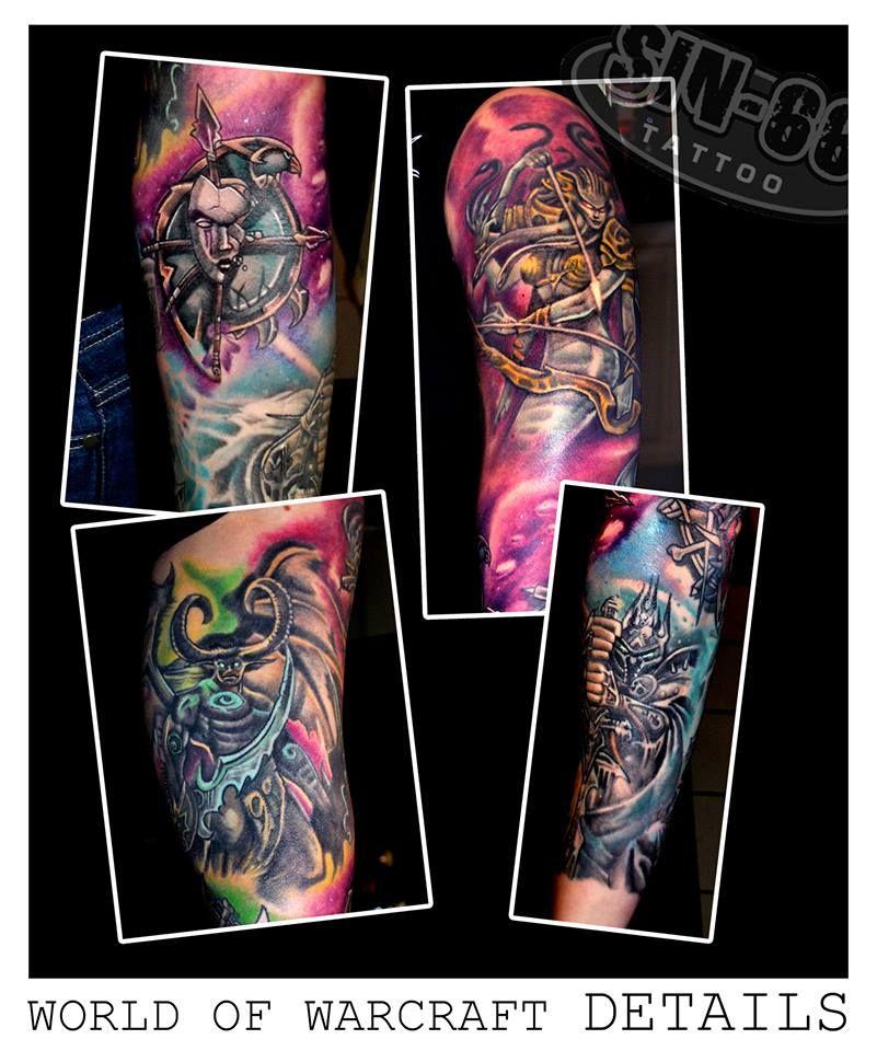 World Of Warcraft Sleeve Detals Tattoos Apeldoorn Sin66