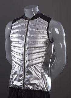 4f10448c0857 Nike Aeroloft 800 Vest - Mens Running Clothing - Silver Black Silver ...