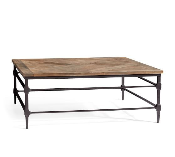 """Parquet 46"""" Square Reclaimed Wood Coffee Table   Coffee ..."""