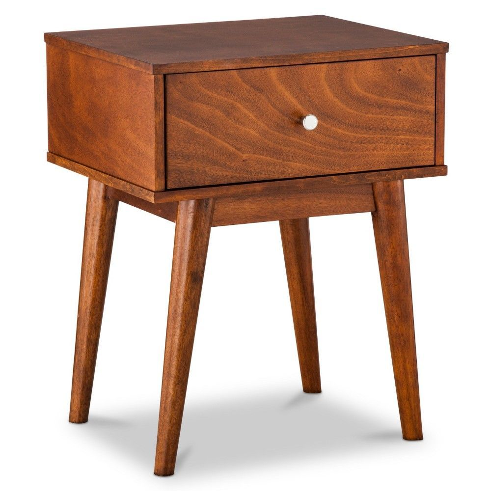 24 Amherst Mid Century Modern Side Table Brown
