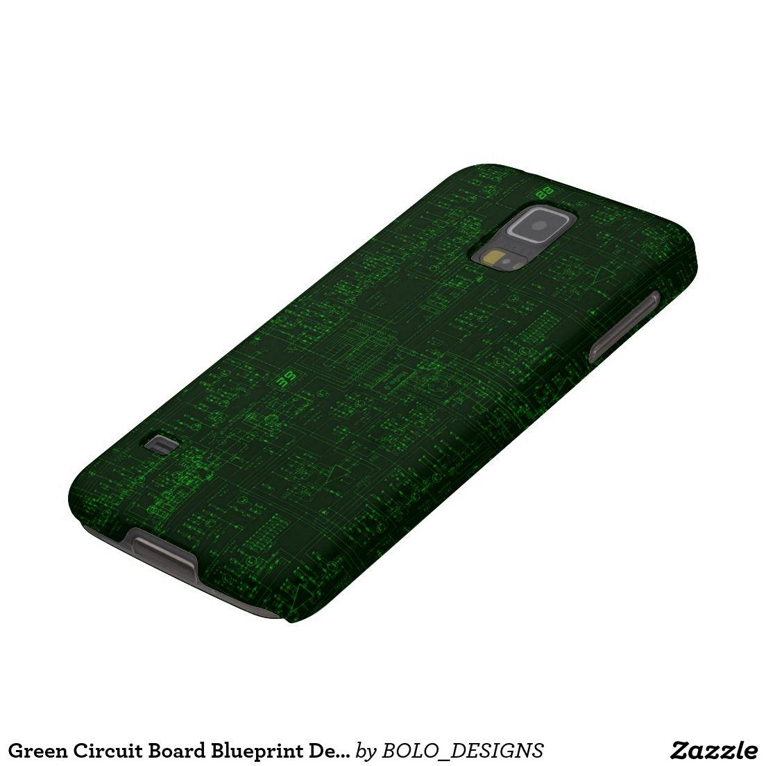 Green Circuit Board Blueprint Design Case For Galaxy S5