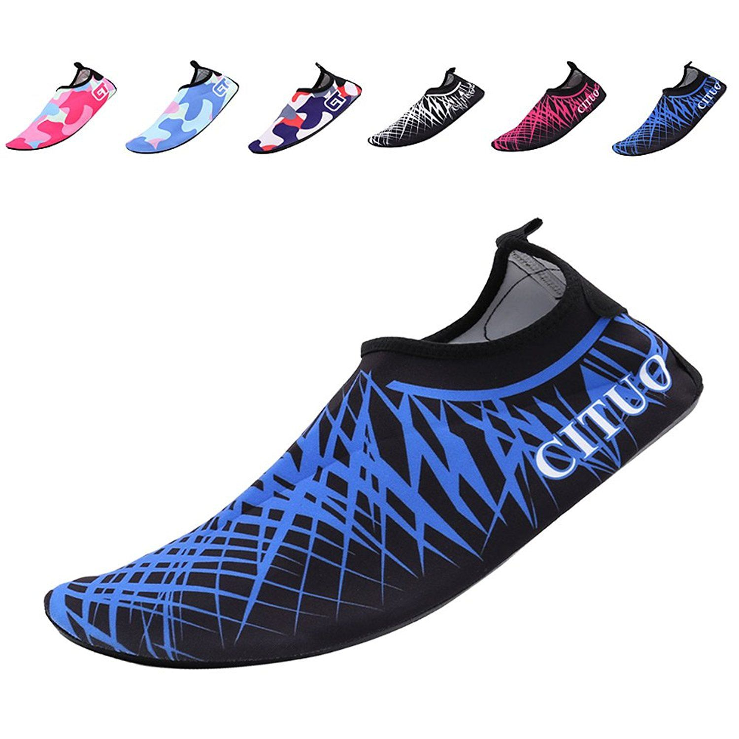 Men Women and Kids Quick-Dry Swim Water Shoes Lightweight Aqua Socks For Beach Pool Surf Yoga Exercise on SALE