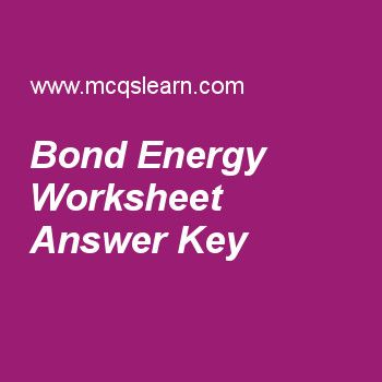 Bond Energy Worksheet Answer Key | AP Chemistry | Quiz ...