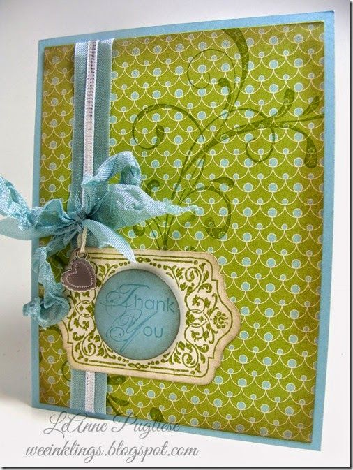 LeAnne Pugliese: Wee Inklings - Paper Players 202 - 6/29/14(Chalk Talk Thank You Stampin Up)