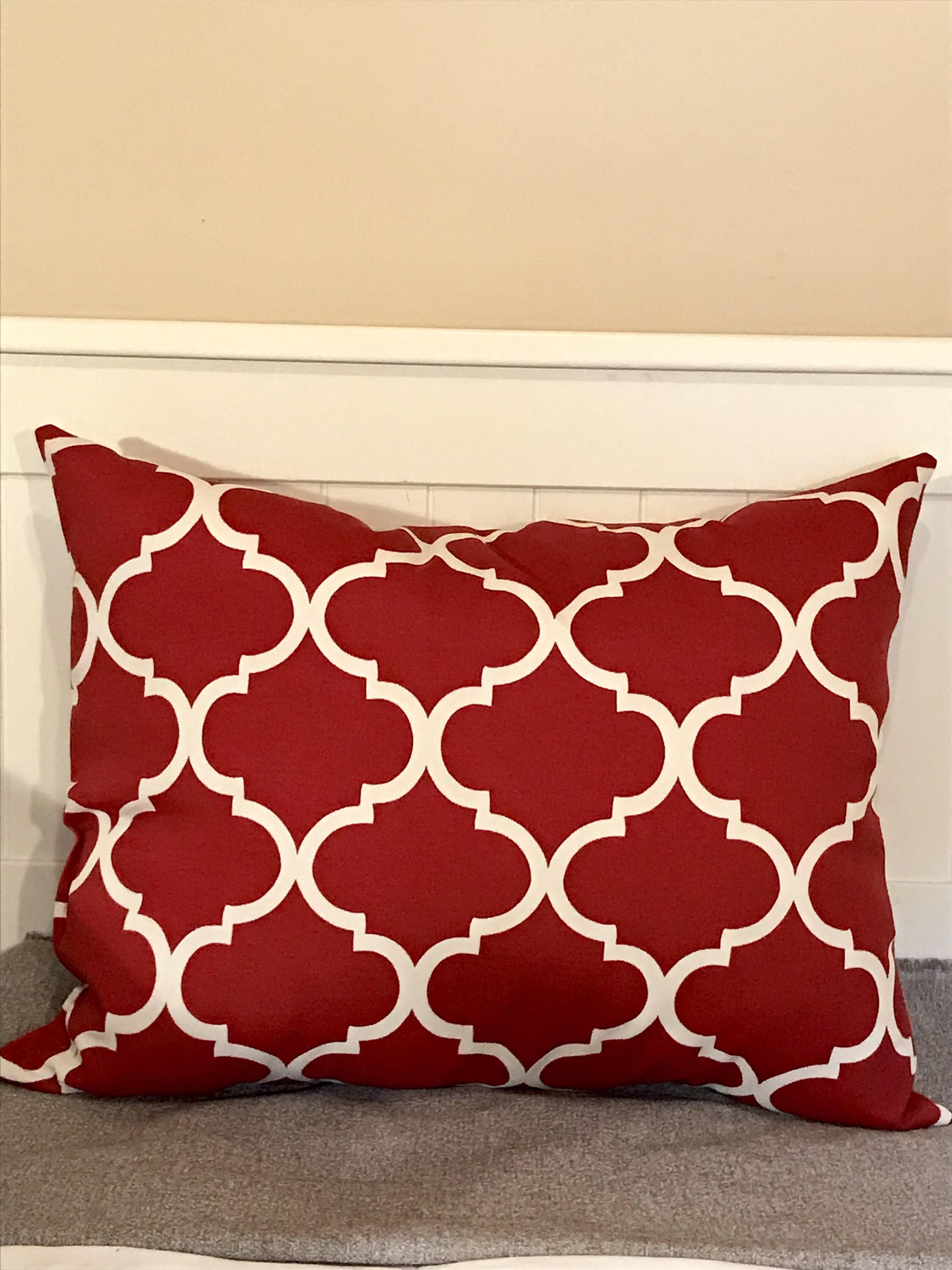 A personal favorite from my Etsy shop https://www.etsy.com/listing/567570271/red-moroccan-throw-pillow