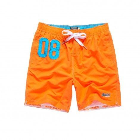 Neon Zwembroek Heren.Superdry Water Polo Short Zwembroek Heren Havana Orange De Wit