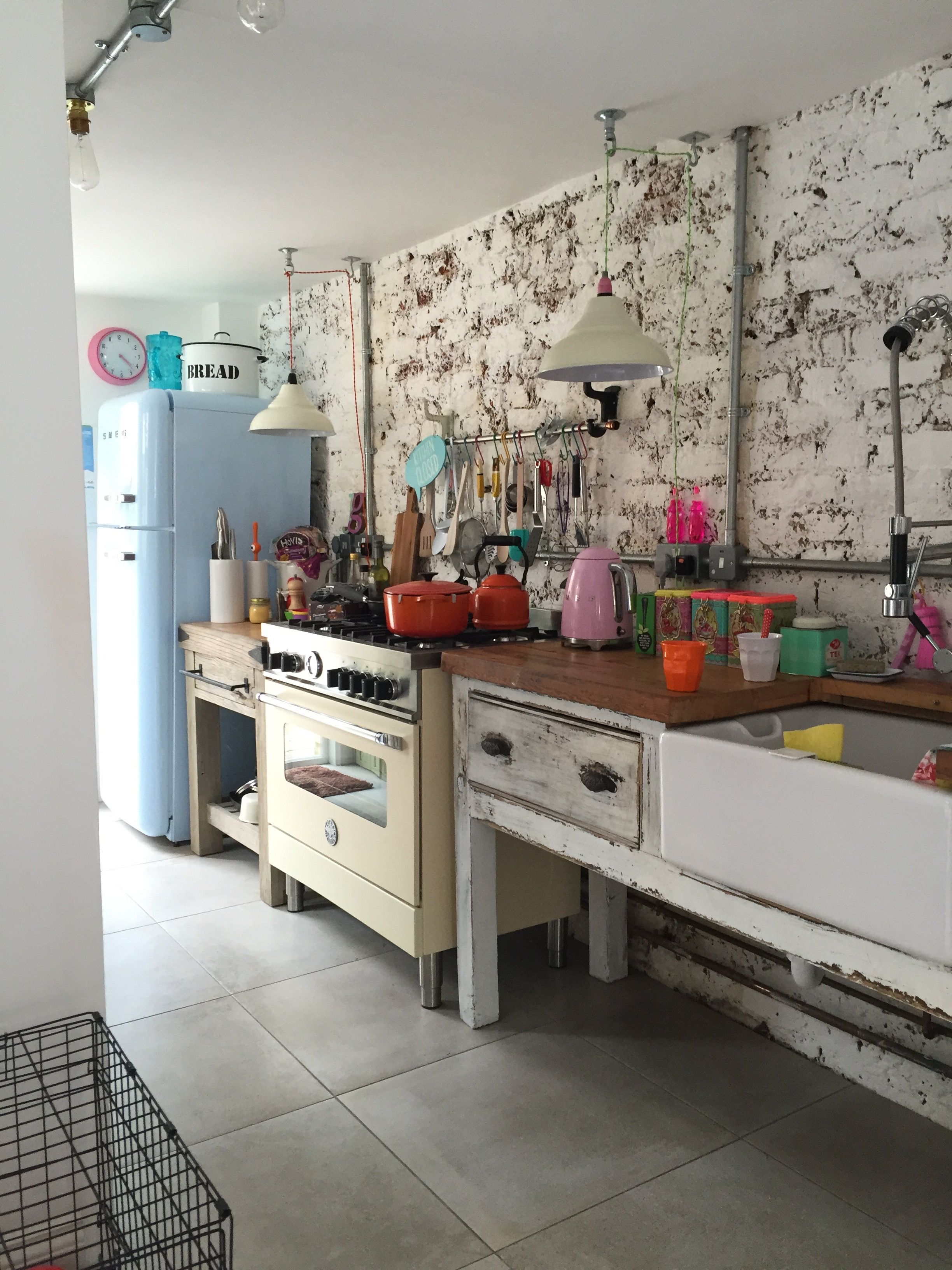 Fantastic Colors And Unfitted Look Freestanding Kitchen Unfitted Kitchen Free Standing Kitchen Units