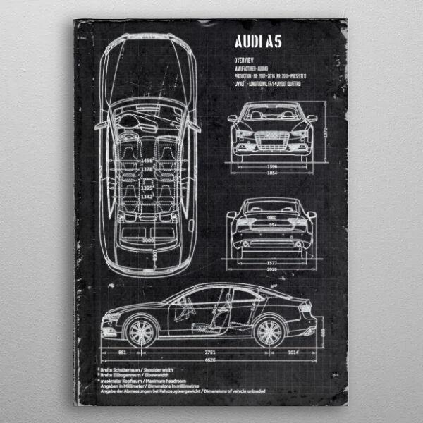 AUDI A5 by FARKI15 DESIGN | metal posters - Displate | Displate thumbnail