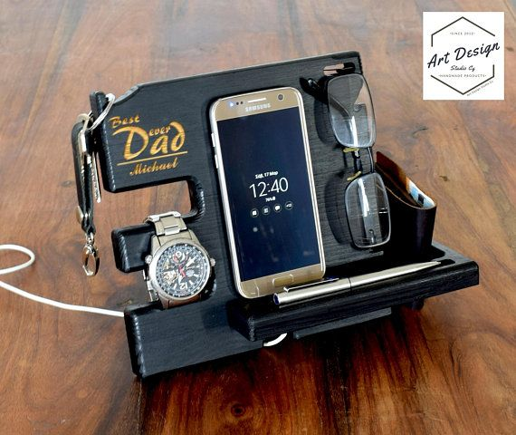 Custom docking station easter gift for men dad desk organizer custom docking station easter gift for men dad desk organizer easter easter negle Images