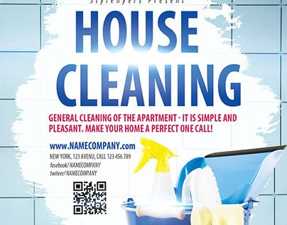 Check Out New Work House Cleaning Psd Flyer Template House