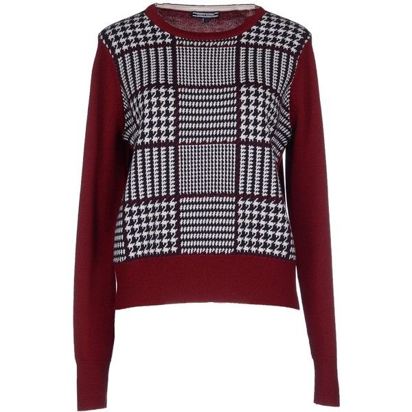 Tommy Hilfiger Sweater (395 SAR) ❤ liked on Polyvore featuring tops, sweaters, maroon, maroon tops, tommy hilfiger sweaters, jumper top, wool jumper и tommy hilfiger tops