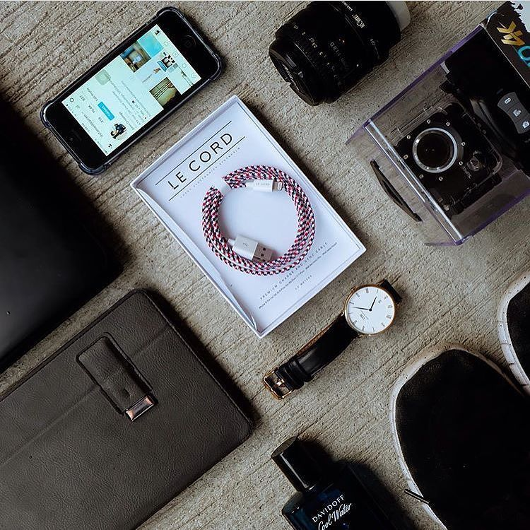 Our Krugeri Cable with stuff shot by @itsfantasticjoren #LeCord #Krugeri #Apple #iphonecable