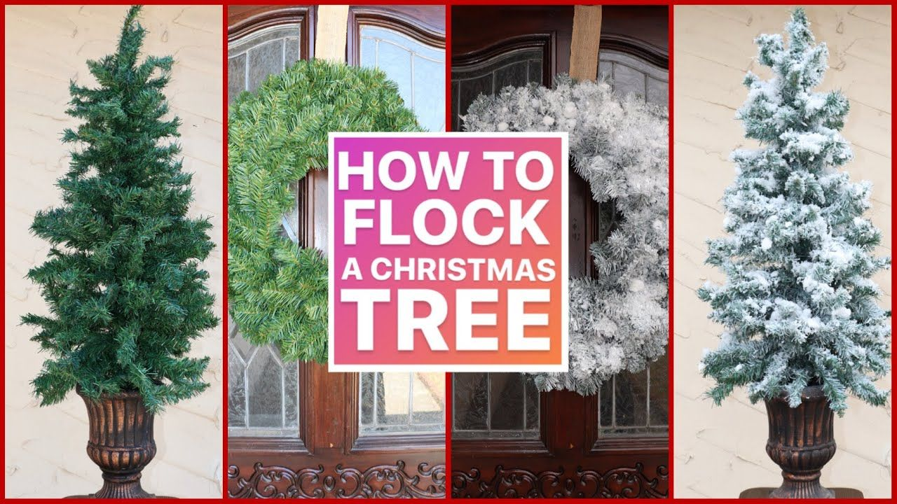 How To Flock A Christmas Tree Step By Step Christmas Decor Ideas 2020 Youtube In 2020 Christmas Decorations Christmas Projects Diy Christmas Tree
