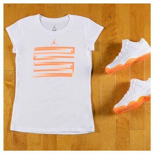 9b627db480e5 Nike Retro 11 Low Flip Jordan Citrus White t Shirt Grade School Size  Small-Large  jordan  Everyday