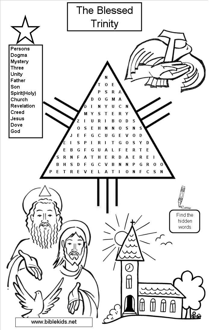 sunday school crossword worksheets activity sheets work of holy spirit trinity sunday. Black Bedroom Furniture Sets. Home Design Ideas