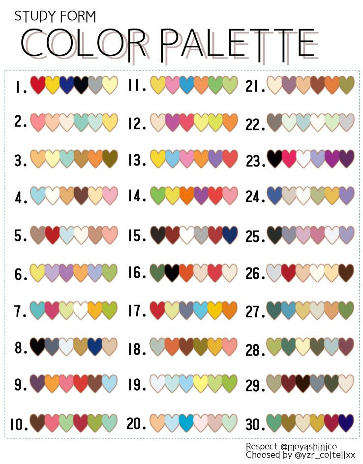 Sometimes You Get Stuck With The Color Combination When You 39 Re Drawing An Illustration This Color Palette Challenge Digital Paint Color Color Mixing Chart