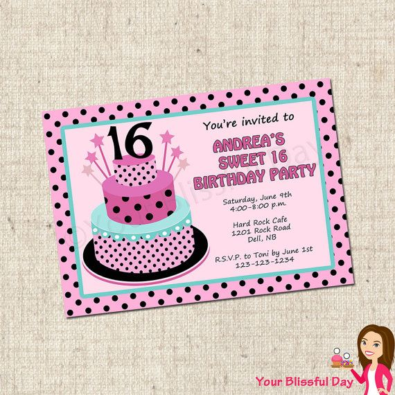 Discover Ideas About 16th Birthday Card Printable