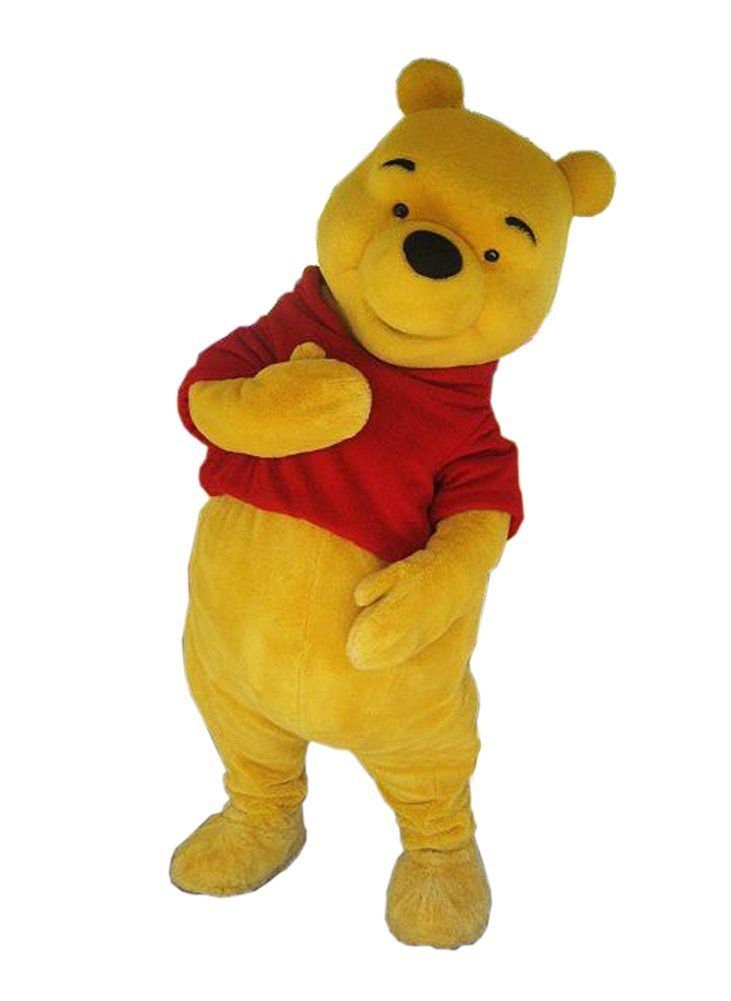 Winnie the Pooh Bear Mascot Costume Adult Fancy Dress Party Costume Cosplay Costume