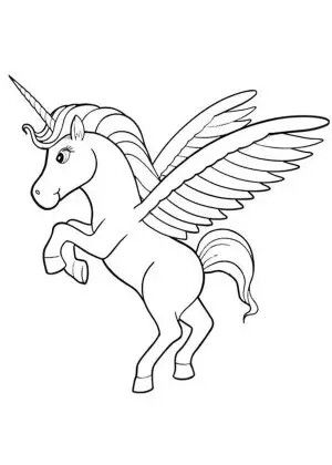 Pegacorn Cartoon Coloring Pages Coloring Pages