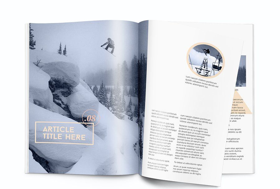 Magazine template - A4 - Indesign #template#Magazine#Templates