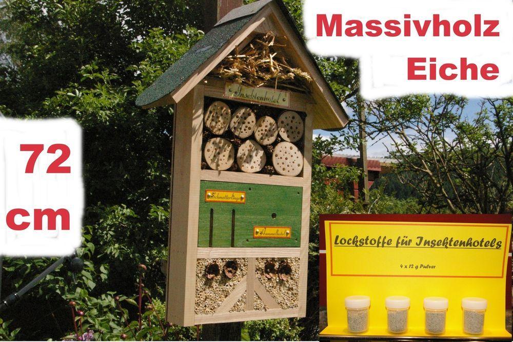 XXL Insektenhotel Hummelhotel für viele Insektenarten mit Lockstoffen Nisthilfe