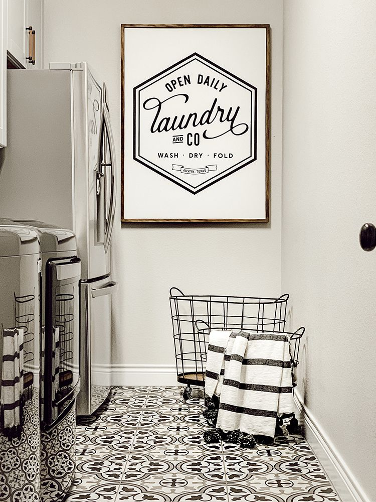 Photo of A Faux Farmhouse Laundry Room – The Home Depot Blog