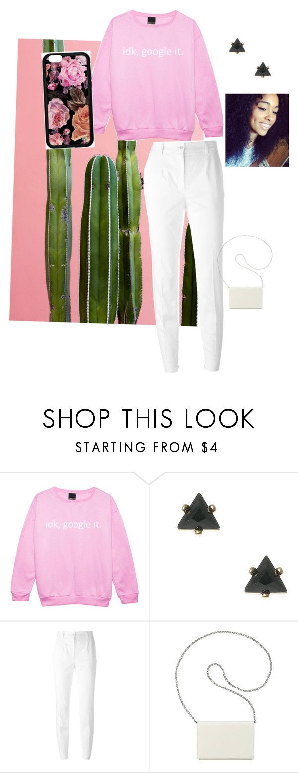 """""""Her dimples are to die for """" by royalinternetqueen2 ❤ liked on Polyvore featuring Dolce&Gabbana and Nine West"""