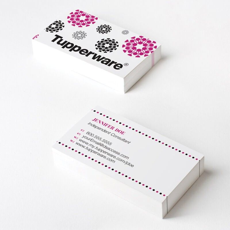 Tupperware Pink Classic Business Cards | Business