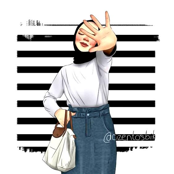 Anime Hijab Drawing Tesettür Kapalı Kız Çizimi
