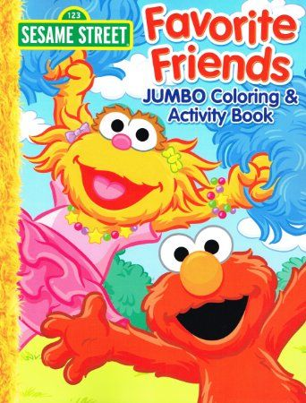 Sesame Street Coloring & Activity Book (Set of 4 Books) | Sesame ...