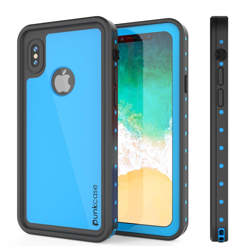 iPhone X Waterproof IP68 Case, Punkcase [Light blue ...