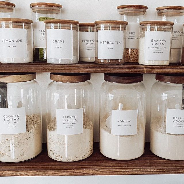 Minimalist Pantry Labels • Personalization Availab