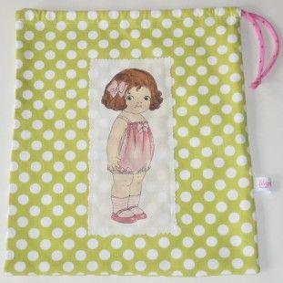 Grand pochon paper doll Liligriottine