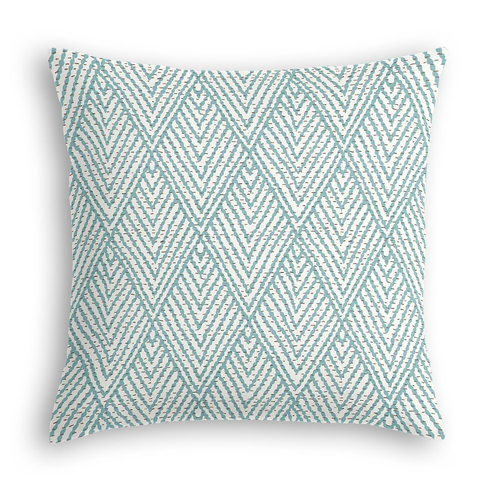 Sometimes, in order to perfect your nook, you have to have the perfect combination of pillows and patterns. Our tribal blue diamond throw pillow is both fun and modern!