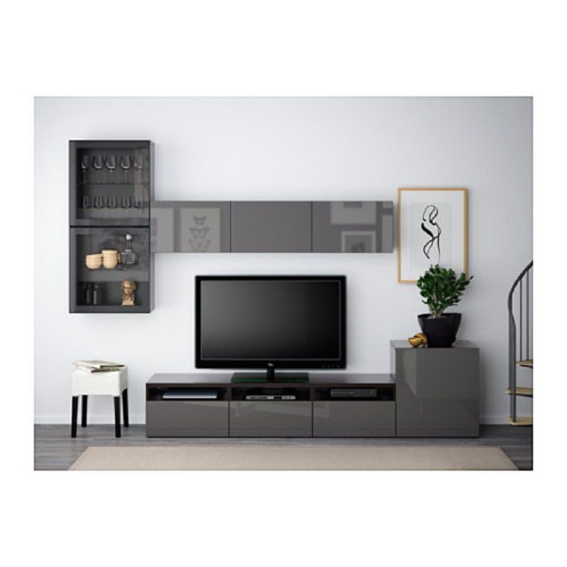 Ikea Living Room Sets Besta Series Tv Storage Combination Of Glass