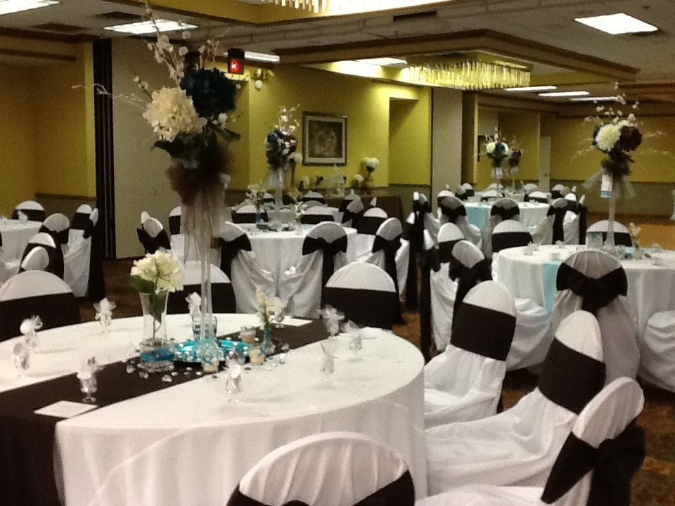 Chocolate And Teal Wedding Reception: Teal And Chocolate Wedding