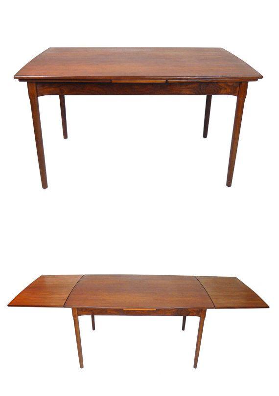 Danish Modern Expandable Teak Dining Table Scandinavian Design