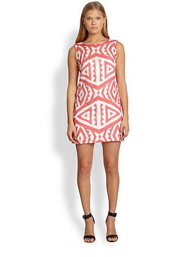 7bfcff3166 MILLY - Tribal-Print Silk Shift Dress - Saks.com