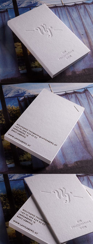 Stylish Monogrammed Minimalist Black And White Business Card Design ...