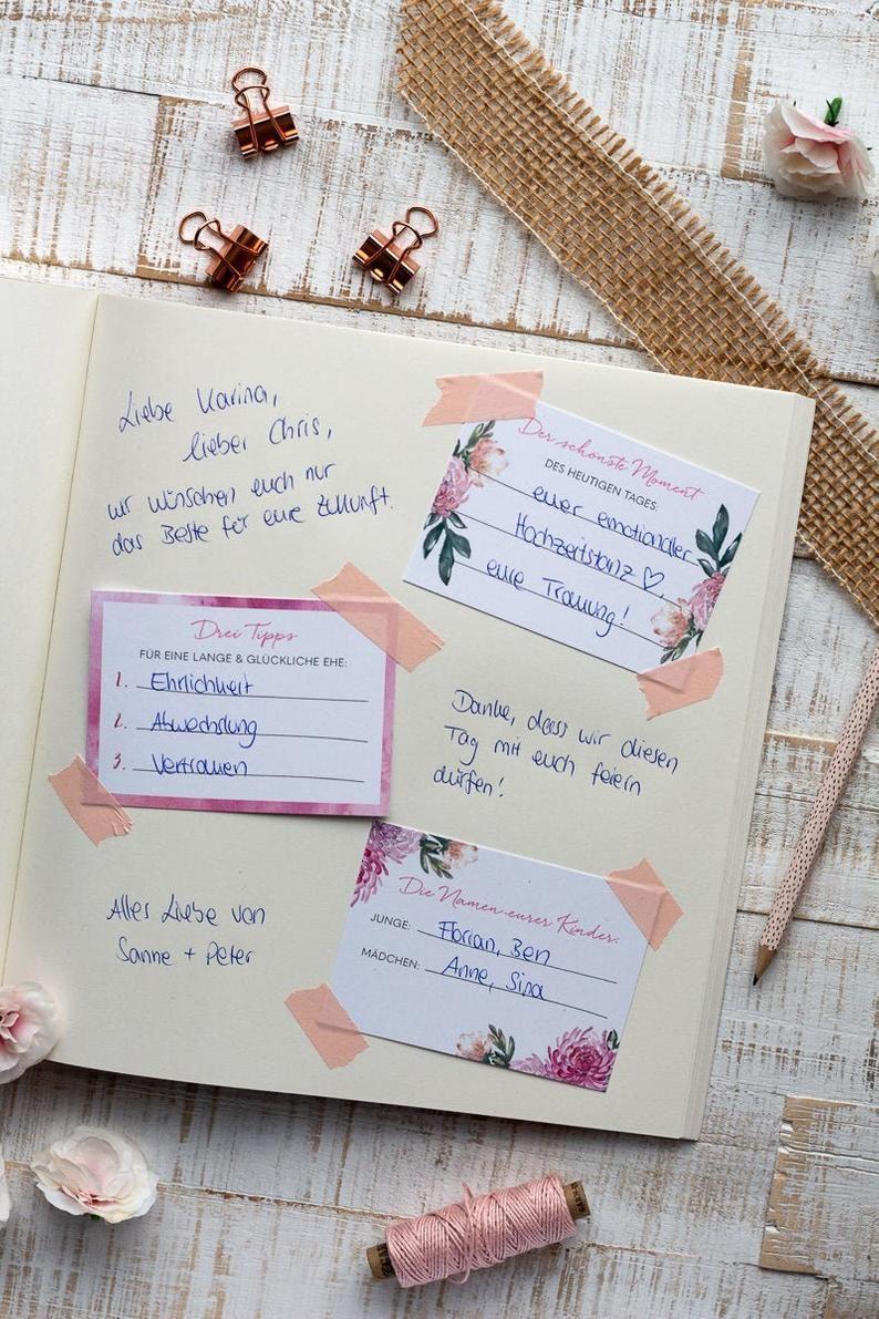 Guest Book Wedding - Creative DIY Idea / Vintage, Pink