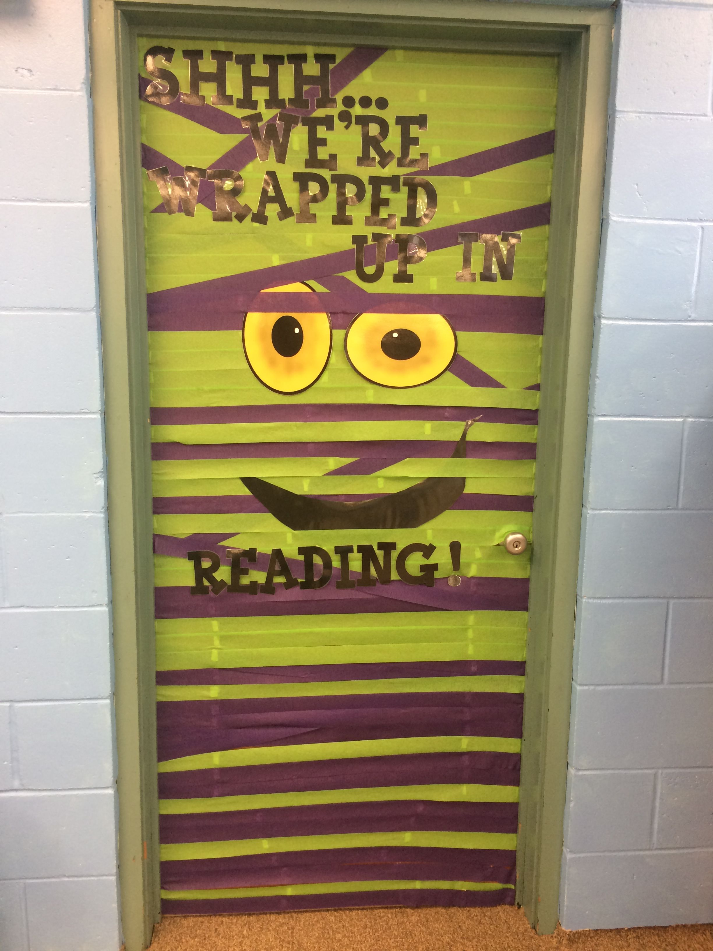 Halloween door decoration Library Ideas Pinterest Halloween - Halloween Door Decorations