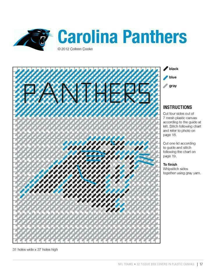 Carolina panthers | NFL patterns | Pinterest | Stricken und häkeln ...