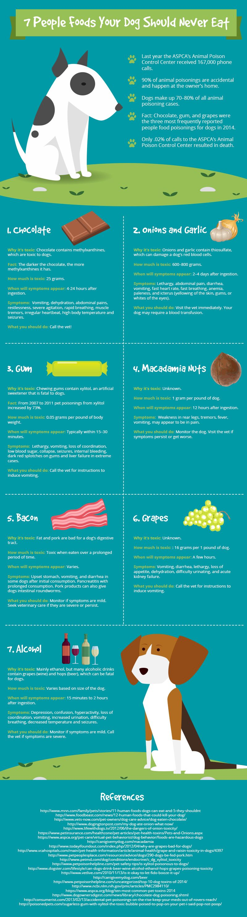 7 People Foods Your Dog Should Never Eat #infographic