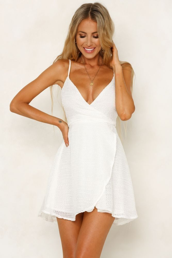 48 Incredible White Dresses Outfit Ideas For Summer To Try Asap - White short dress, White dresses graduation, White dress, Cute dresses, Womens dresses, Dresses - White dresses for girls have been in fashion for ages  It is the best dress to pick for summer use  …