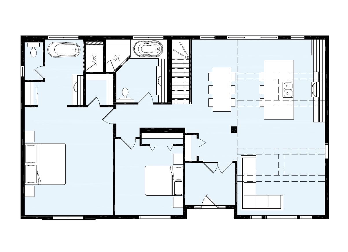 Maison Neuve   Plain Pied, Modèle Caroline