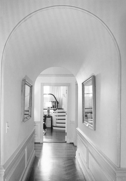 Arched Corridor To The Music Room Off Of The Third Floor Center