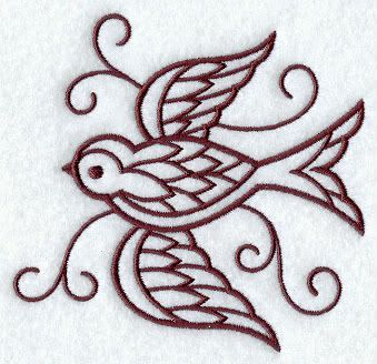 Simple Embroidery Designs Swallow Picture By Cageycrafts | Embroidery | Pinterest | Swallows ...