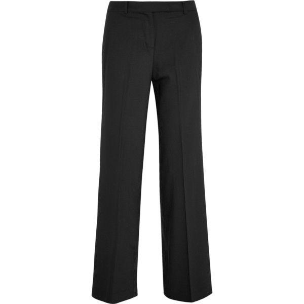 Stretch-wool Straight-leg Pants - Gray Michael Kors yDvcxY7