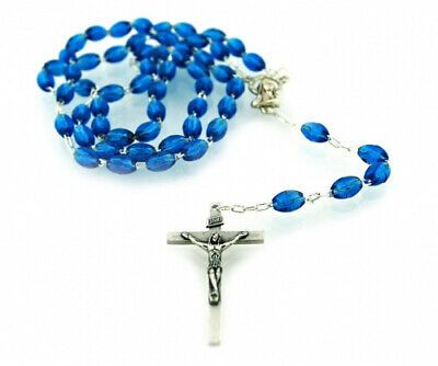 (Dark Blue) - Catholic Rosary with Metal Crucifix Cross Made in Italy #fashion #home #garden #homedcor #otherhomedcor (ebay link) #catholicrosaries